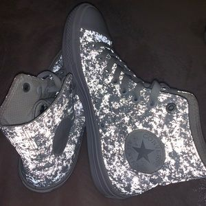 White glow in the dark Chuck Taylor Converse 8 1/2